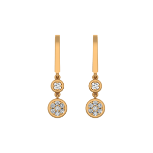 The Dew Drops Gold Diamond Earrings