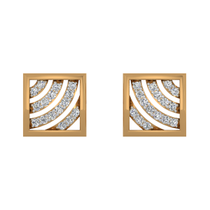 The Paris Patterns Gold Diamond Earrings