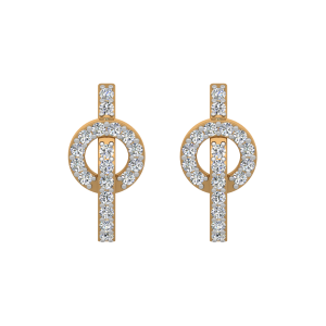 The Maverick Dots Gold Diamond Earrings