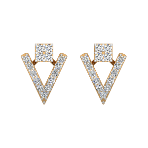 The Joy Angles Gold Diamond Earrings