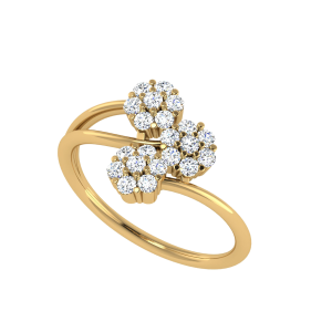 The Louisa Diamond Cluster Ring