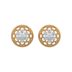 The Stellar Flower Gold Diamond Earrings