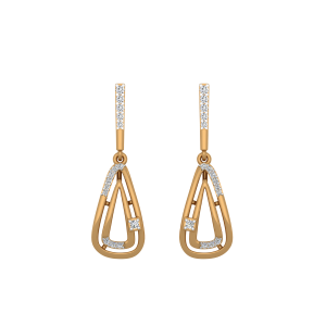 The Flair Fantasy Gold Diamond Earrings