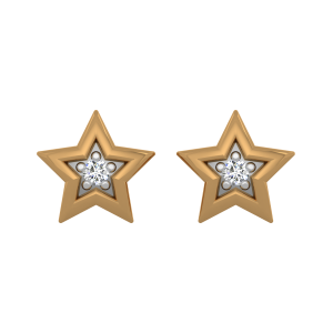 The Heavenly Stars Gold Diamond Earrings