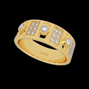 A Way To Say Couple Band Diamond Ring