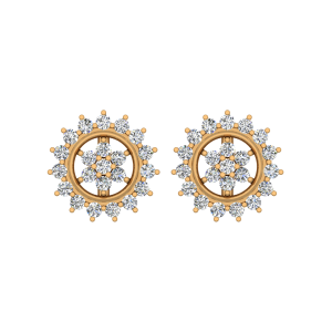 The Best Bloom Gold Diamond Floral Earrings