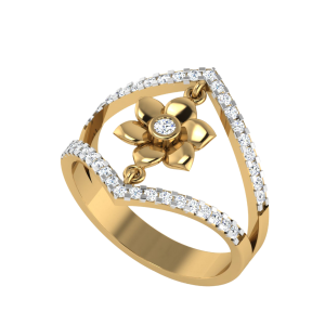 The Floral Swing Diamond Ring