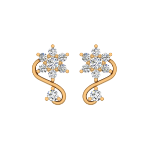 The Twisted Lush Gold Diamond Earrings