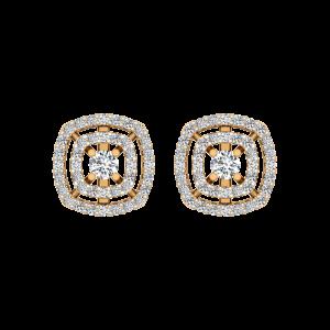 The Lush Fence Gold Diamond Earrings