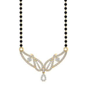The Awesome Mangalsutra With Black Beads Gold Chain