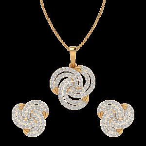 Trip Le Whirl Diamond Pendant Set