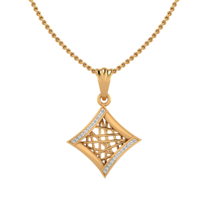 The Mesh Mix Diamond Pendant