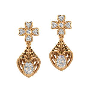 The Bouquet Florist Diamond Dangle Earrings