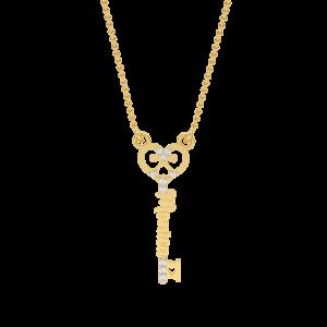 Monica Name Personalized Gold Diamond Pendant