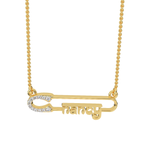 Nancy Name Personalized Gold Diamond Pendant