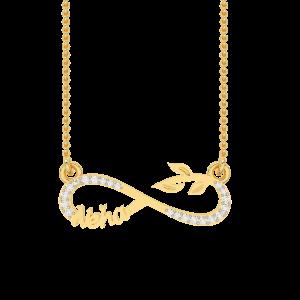 Neha Name Personalized Gold Diamond Pendant