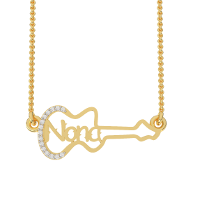 Nona Name Personalized Gold Diamond Pendant