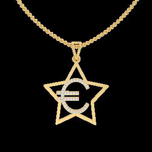 Euro Gold Diamond Pendant