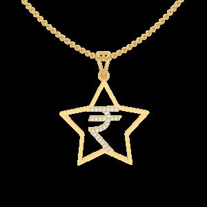 INR  Gold Diamond Pendant