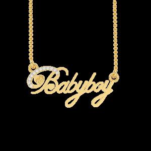 Babyboy Name Gold Diamond Pendant