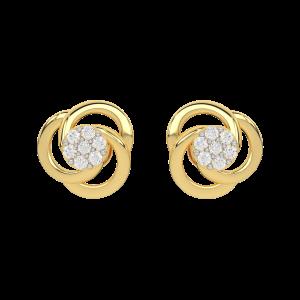 Centre De Fleurs Diamond Stud Earrings
