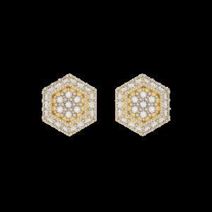 The Perfect Hexagon Diamond Stud Earrings