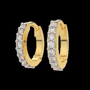 Hoop Delights Gold Diamond Earrings