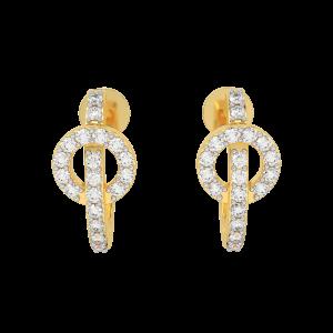 The Maverick Dots Gold Diamond Earrings