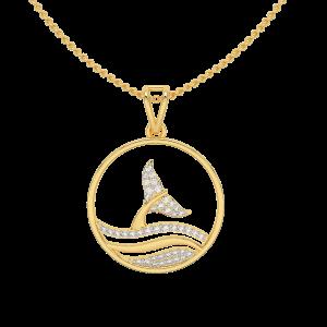 In Joy Fish Gold Diamond Pendant