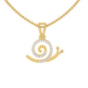 The Snail Trail Gold Diamond Pendant