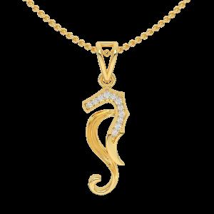 The S Horse Gold Diamond Pendant