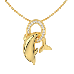 The Fun Loving Gold Diamond Pendant