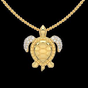 Totally Turtle Gold Diamond Ring