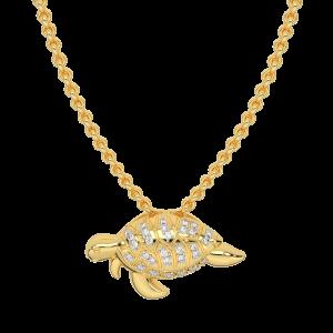 Terry Turtle Gold Diamond Pendant
