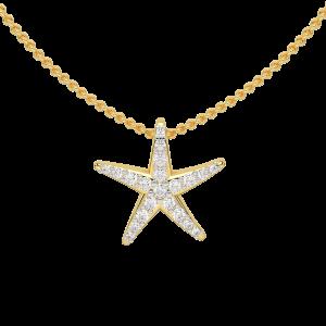 The Starfish Gold Diamond Pendant