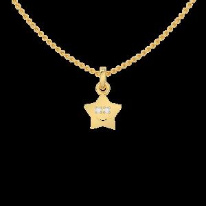 Cute Star Diamond Kids Pendant