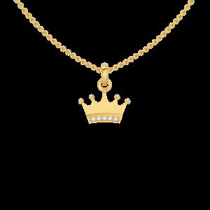 Princess Crown Diamond Kids Pendant