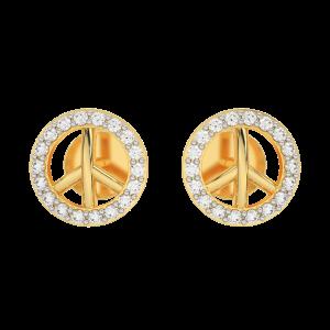 The Peace Gold Diamond Kids Earring