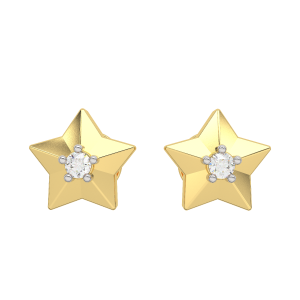 The Sweet Star Gold Diamond Kids Earring