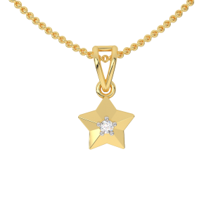 The Sweet Star Gold Diamond Kids Pendant