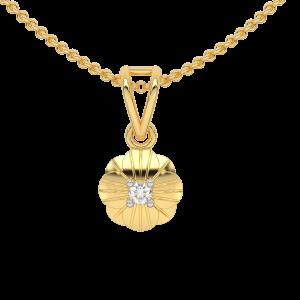 The Clover Over Gold Diamond Kids Pendant