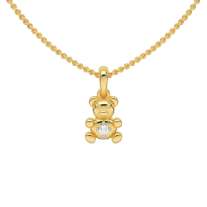 The Tidy Teddy Gold Diamond Kids Pendant