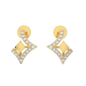 The Cut And Out Gold Diamond Stud Earrings