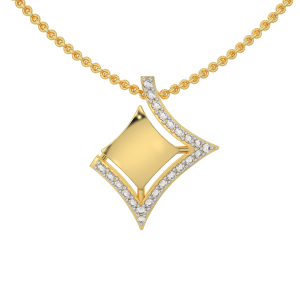 The In Complete Gold Diamond Pendant