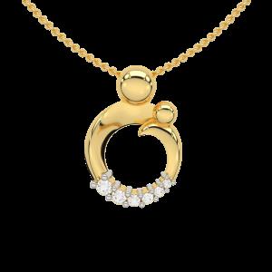 The First Step Gold Diamond Pendant