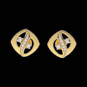 The Bloom Gold Diamond Earrings