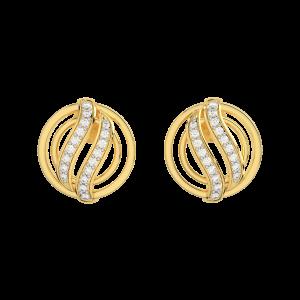 The Circlet Gold Diamond Earrings