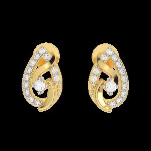 The Moonlight Diamond Gold Earrings
