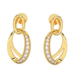 Oh Beauty Gold Diamond Earrings