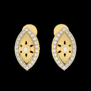 The Classic Gold Diamond Earrings